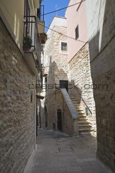 Alley in Palo del Colle Oldtown. Apulia.