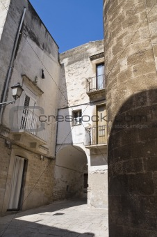 Alley in Palo del Colle Oldtown. Apulia.