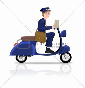 Postman on Scooter