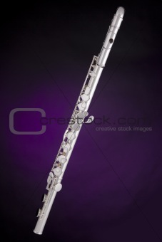 Alto Flute Isolated On Purple