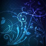 Dark Blue abstract glowing background