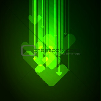 Abstract arrows background. Vector.