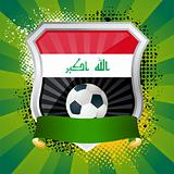 Shield with flag of Iraq