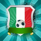 Shield with flag of  Italy