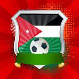 Shield with flag of  Jordan