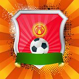 Shield with flag of  Kyrgyzstan