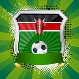 Shield with flag of  Kenya