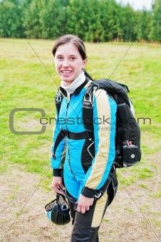 Portrait of the smiling parachutist