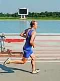 sportsmen running