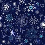 Seamless dark blue christmas wallpaper