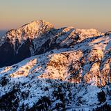 Mountain scenery of snow