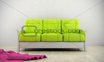 Green modern sofa