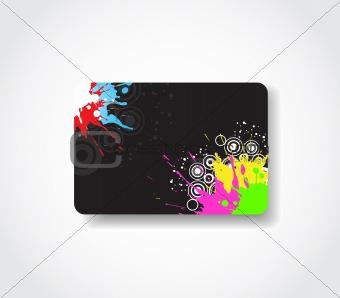 Grunge gift card