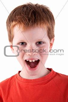 Cute Boy, screaming
