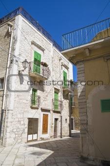 Alley in Giovinazzo Oldtown. Apulia.