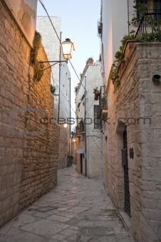 Alleyway of Giovinazzo Oldtown. Apulia.