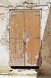 Derelict wooden door.