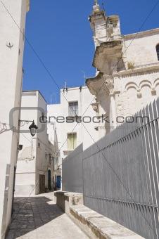 Alleyway in Monopoli Oldtown. Apulia.
