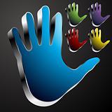 Chrome Hand Button