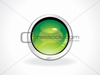 abstract glossy speech botton