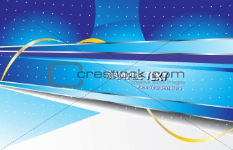 abstract vector design template  in blue