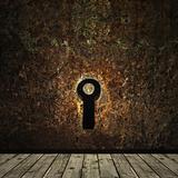 grunge keyhole
