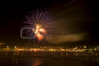 Fireworks over the northern port of Lulea