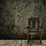 grunge interior with chair