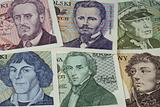 historical portraits on Polish banknotes