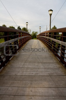 foorbridge over a river