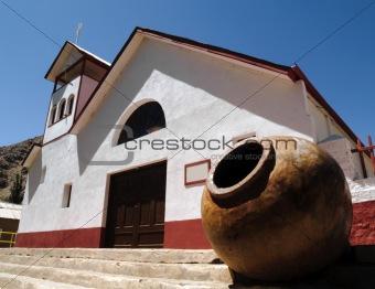 Church and big pot