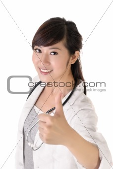 Asian medical doctor woman
