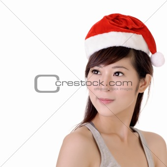Attractive Christmas lady