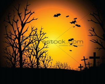 halloween invitation or background