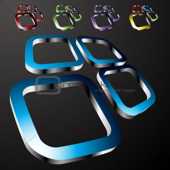 Abstract Square Shape Set