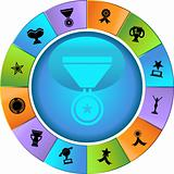 Trophy Buttons - wheel