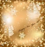 Gold background with sparkles star. Vector