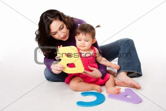 Baby learning alphabet ABC