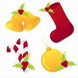 glossy christmas icons