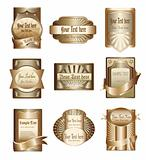 Vector Collection Of Luxury Golden Labels