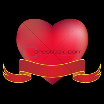 3D Heart with Banner