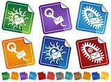 Virus Sticker Icons