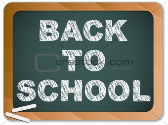 Blackboard with Back to School Message written with Chalk