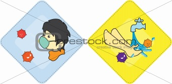 box cd dvd papers vector illustration