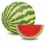 watermelon and a slice