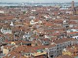 Top view of Venice roof and sea port.