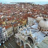 Top view of Venice roofs.