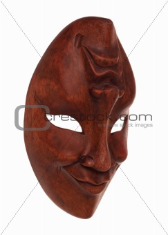 Greek wooden mask