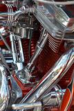 V- twin motorbike engine