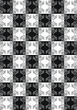 Tile-able black-white pattern